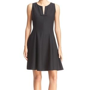 KATE SPADE NY ♠️ Crepe Fit and Flare Black Dress